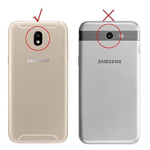 Funda para Samsung J3 2017 (SM-J330) , IJIA Alta Calidad Negro TPU Silicona Suave Cover Tapa Caso Parachoques Carcasa Cubierta para Samsung Galaxy J3 2017 (Versión europea)