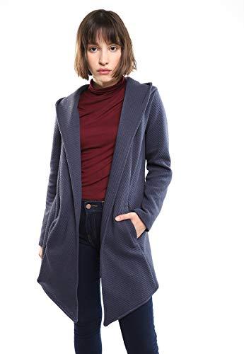 LOB Abrigo Corto Azul Marino Abrigo para Mujer Azul Marino Talla Extra Chica