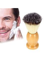 ZONSUSE Scheerborstel voor mannen, veganistisch vriendelijke scheerkwast - synthetische scheerborstel nylon scheerborstels houten handvat scheerborstels voor scheercrème, schuim of zeep