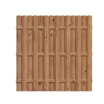 Fencing Cedar - 6 ft. H x 6 ft. W Pressure-Treated Cedar-Tone Moulded Multi Style Fence Kit