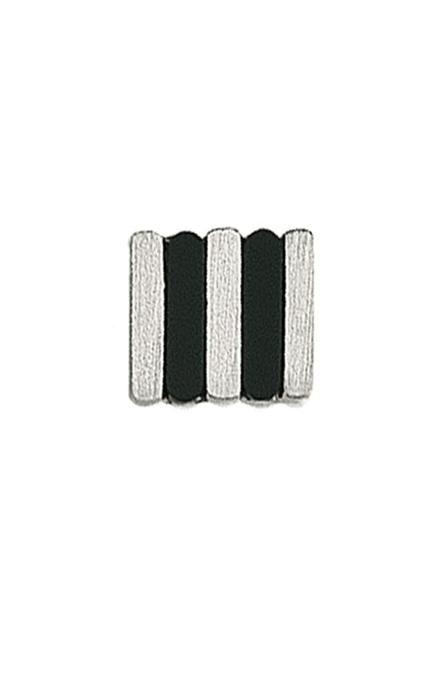 14K White Gold Tie Tac With Alternating Bars of Gold and Black Onyx-86261