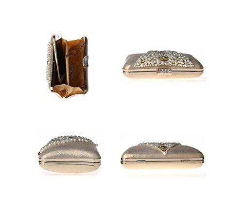 Bandoulière GSHGA à Gold à Black Chaussure Perle Sac Sac Mariage En Perles De Perlées Main Nuptiale Main Sac En Soirée à De Mode 44Rwr