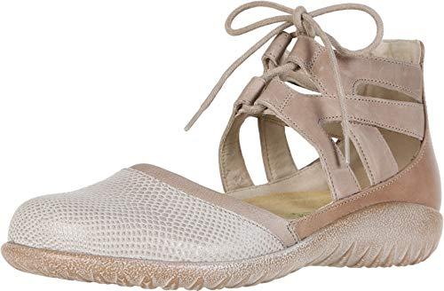 NAOT Footwear Women's Lace-up Kata Shoe Beige Lizard/Khaki/Arizona Tan 7 M US