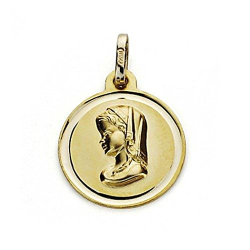 18k médaille d'or Virgin Nina 16mm. chanfrein [7569]
