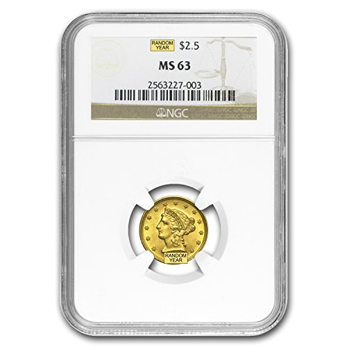 1840 – 1907 $2.50 Liberty Gold Quarter Eagle MS-63 NGC/PCGS $2.50 MS-63 PCGS