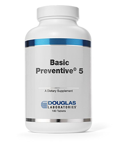 Douglas Laboratories® - Basic Preventive 5 - Iron-Free Highly Concentrated Vitamin/Mineral/Trace Element Supplement with Antioxidants - 180 Tablets System Food Based 180 Tablets