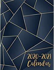 2020-2021 Calendar: 2 Year Jan 2020 - Dec 2021 Daily Weekly Monthly Calendar Planner For To Do List Academic Schedule Agenda Logbook Or Student & Teacher Organizer Journal Notebook, Appointment Business Planners W/ Holidays | Blue Gold