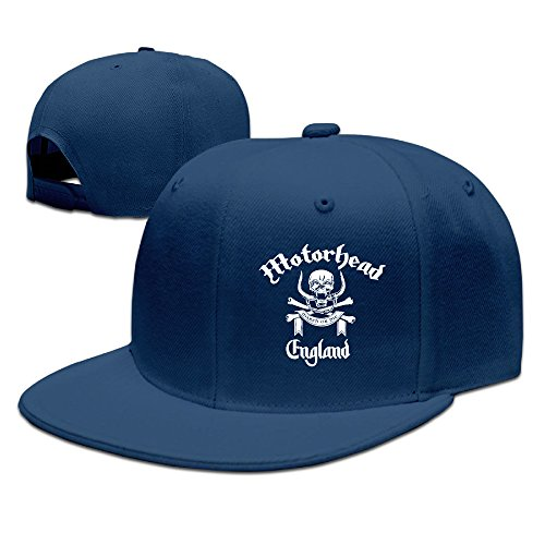 VOLTE Motörhead British Heavy Metal Rock Band Skull Flat Bill Snapback Adjustable Traveler Cap Navy After Christmas Shopping Online