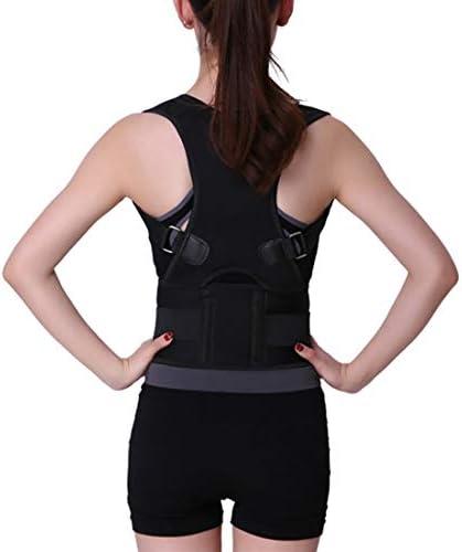 Schunyi 背中矯正ベルト大人の背中の姿勢矯正ストラップレス磁気ヘルスケア背中サポートベルト (色 : 黒, サイズ : XL)