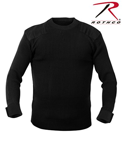 Rothco Acrylic Commando Sweater, Black, X-Large