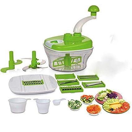 KE BRAND Plastic Dough Maker, Vegetable Cutter, Slicer, Dicer, Atta Kneader Food Processer…