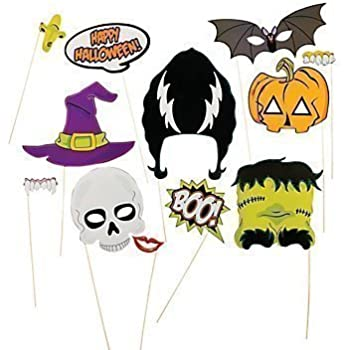 halloween photo booth props halloween decorations attached to the stick no diy required only by usa sales seller - Halloween Photography Props