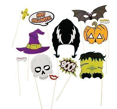 Halloween photo booth props, Halloween decorations, attached to the stick NO DIY REQUIRED only by USA Sales Seller -