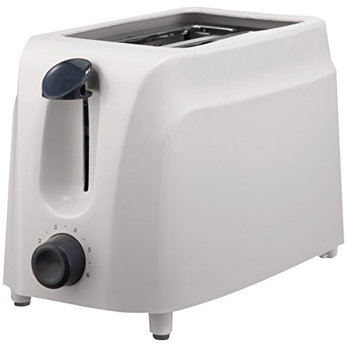 Brentwood TS-260W Cool-Touch 2-Slice Toaster, White