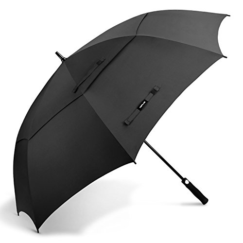 TOPLUS Umbrella Windproof Large, 68 Inch Golf Umbrella Oversize - Automatic Open|Double Canopy|Vented Windproof|UV Protection Stick Umbrellas for Men Women - Cane Protection