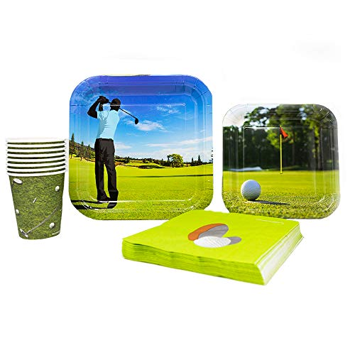 Golf Party Supplies Pack (65+ Pieces for 16 Guests!), Golf Party, Golf Tableware ()