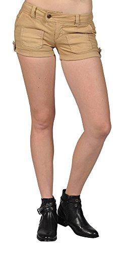 No Boundaries Junior's Low-Rise Shorts (1, (Cotton Low Rise Shorts)