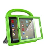 eTopxizu Kids Case with Built-in Screen Protector for iPad 4, iPad 3 & iPad 2, Shockproof Convertible Handle Stand Case Cover for iPad 2nd 3rd 4th Generation - Green