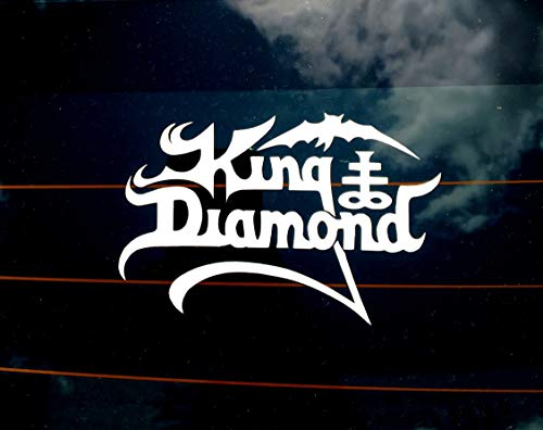 CELYCASY King Diamond Band Decal Vinyl for Car Laptop and Wall