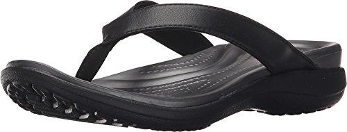 Flip Thong - Crocs Women's Capri Flip-Flop, Black/Graphite, 6 M US