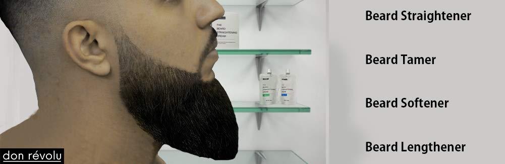 Beard straightener brush