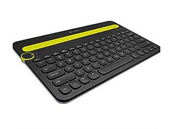 SUPRERHOUNG Computadora Teclado Teclado inalámbrico Universal Bluetooth con batería Recargable Compatibilidad Universal con iPad y computadora (Negro): ...