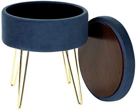 iVilla Velvet Storage Footrest Stool/Seat