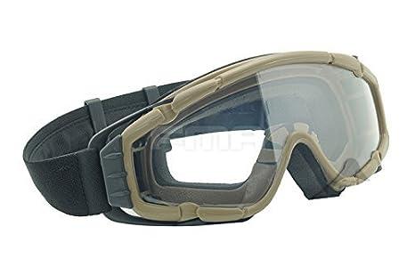 Ventilador refrigerador gafas si-balístico versión gafas DE protección para bicicleta Ciclismo conduciendo táctico Paintball Airsoft Snowboard y esquí 3 colores (negro, DE, rosa) DE WorldShopping4U