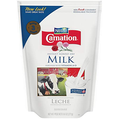Nonfat Milk Dry Powder (Nestle Carnation Instant Nonfat Dry Milk, 9.6 Ounce Pouch)