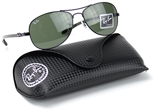 Ray-Ban RB8301 002 CARBON FIBRE Black Frame / Green G-15 Lens - Sale Aviator Rayban