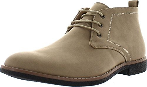 Arider Cooper-03 Men's High-Top Lace Up Chukka Ankle Booties,Khaki,11