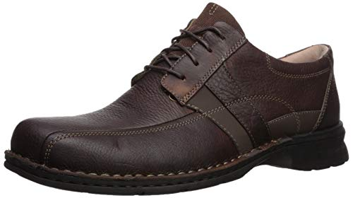 (CLARKS Men's Espace Oxford, Brown Oily Leather, 15 M US)
