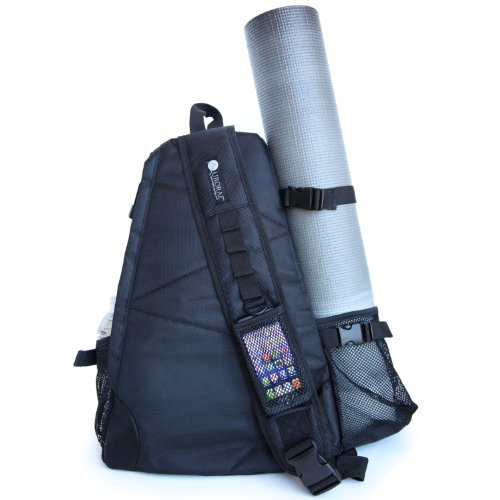 4fa1d4611b4d Aurorae Yoga Multi Purpose Cross-body Sling Back Pack Bag. Mat sold  separately. Ebony Solid. Ebony