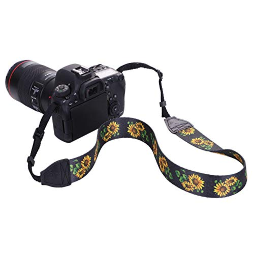 GUAngqi Retro Classical Camera Strap Camera Single Shoulder Lens Strap Camera Neck Strap for Canon Nikon Sony DSLR Camera,Sunflower Color,Cotton by GUAngqiqi (Image #4)