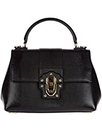 Dolce&Gabbana women's leather handbag shopping bag purse lucia black