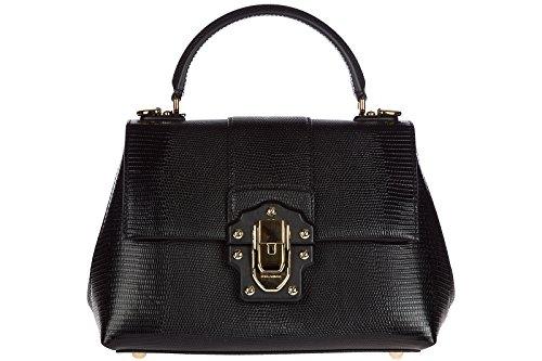 sac Dolce main noir cuir femme en amp; lucia à Gabbana SEPwnrHxqE