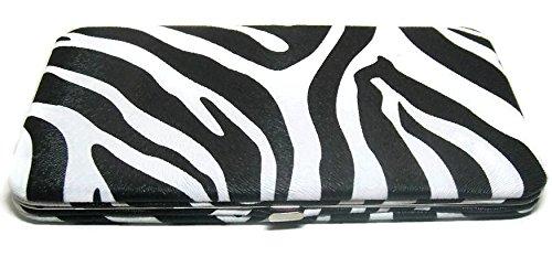 ZEBRA FLAT OPERA WALLET CLUTCH PURSE CHECKBOOK HOLDER BY DESIGNSK (Wallet Clutch Zebra)