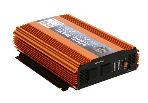 Tiger Claw 3000 Watt Power Inverter DC-AC 6000 Watt Peak Power Car Truck by OSP (Image #1)