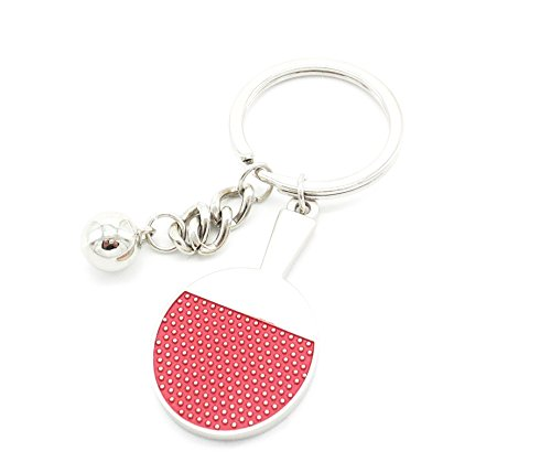 Seia 3D Sports Table Tennis Titanium Steel Keychain - Titanium Tag Sports