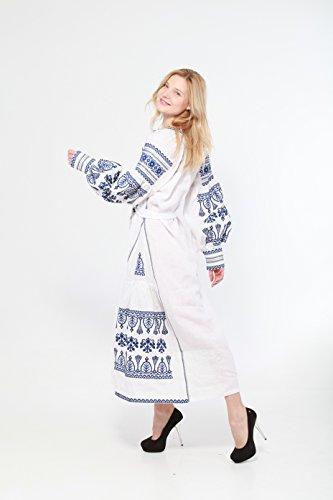 Boho Style Dress Embroidered Long Dress New Woman. Robe De Style Boho Longue Robe Brodée Nouvelle Femme. Vyshyvanka Ukrainian 130cm White Vyshyvanka 130cm Blanc Ukrainienne