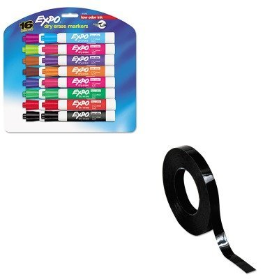 Expo 16675B Expo Vis-A-Vis Wet Erase Markers Assorted Colors 5 Count