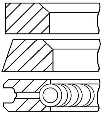 GOETZE ENGINE Piston Ring Kit 08-117900-00
