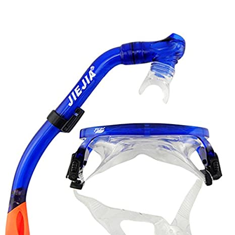 Water Sports Jiejia M9620 Children's Snorkeling Goggles and Snorkel Combos Goggles Blue and Green - (Color: Blue) WD-007-520