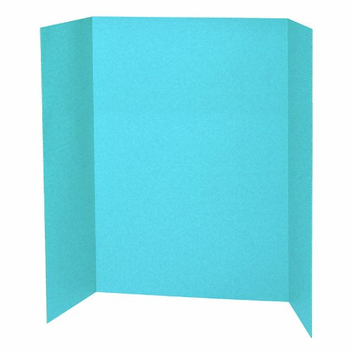 Pacon Corporation PAC3771 Sky Blue Presentation Brd (Tri Fold Presentation Board)