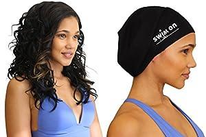 Magnificent Amazon Com Swim On Waterproof Silicone Swim Cap Large Black Short Hairstyles For Black Women Fulllsitofus