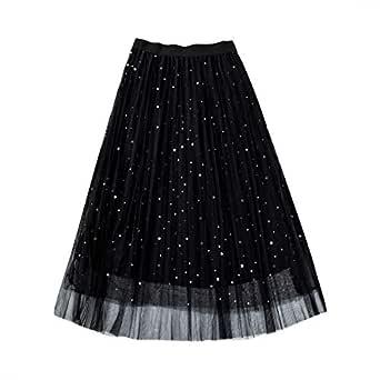 Greetuny 1X Falda Tul Mujer Elegante Brillante Estrellas Vestidos ...