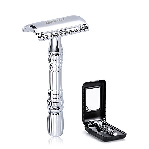 BAILI Classic Barber Double Edge Blade Shaving Safety Razor Shaver Knife Personal Beard Care Silver Color BD176