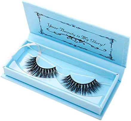 Miss Kiss 1 Pairs Premium Lashes, Reused 3D Lashes Full Strips, Upgrade Siberian Mink Eyelashes Cruelty Free, Handmade False Eyelashes Natural Style, Eye Lash in Luxury Box