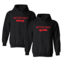 We Match! Better Half (With Arrows) Matching 2-Pack Hooded Sweatshirt Set