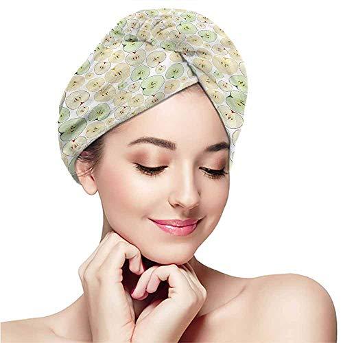 Adult Vinyl Half Cap Mask - Microfiber towel covers for women,Apple,Fruits Cut in Half Seeds